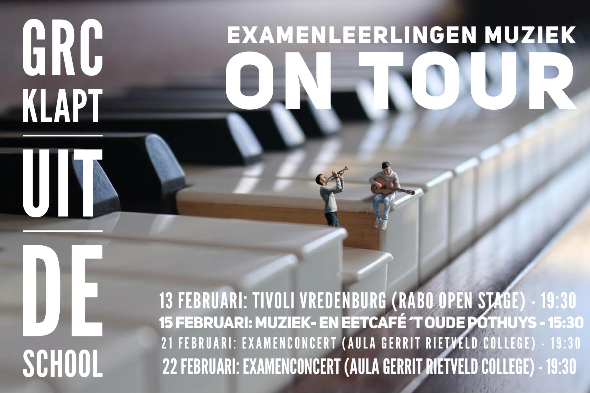 Eindexamenkandidaten muziek 'On Tour 2019'