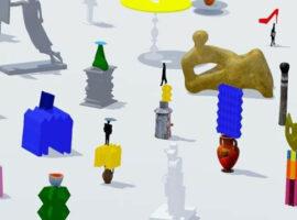 Lancering videokunstwerk 'Finally two good sculptures'